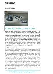 SPI 18-1049-0510 SX3 power edition – Beutellos mit ... - Siemens