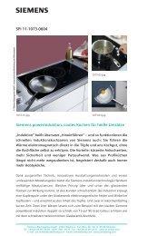 SPI 11-1073-0604 Siemens powerInduktion: cooles Kochen für ...