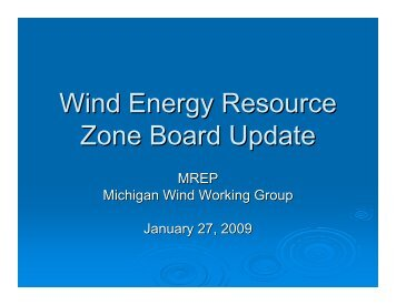 Wind Energy Resource Zone Board Update