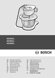 MUM52.. MUM54.. MUM56.. - Moebelplus GmbH