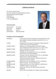 curriculum vitae - Dr. Daniel B. Werz - Georg-August-Universität ...