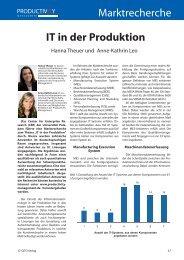 Marktrecherche IT in der Produktion - Productivity Management