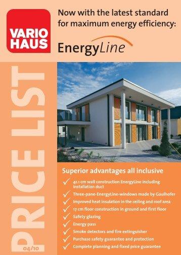 Price list EnergyLine 0410 - Vario Haus