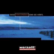 Werzalit Fensterbänke - GOTTRON + HOFFMANN Kunststoffe Mainz