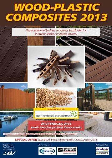 wood-plastic composites 2013 - Applied Market Information Ltd.
