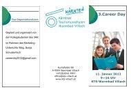 3.Career Day - Kärntner Tourismusschulen, Warmbad Villach