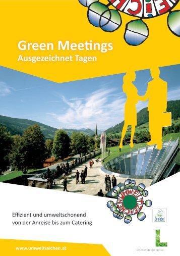 Green Meetings Broschüre - Das Österreichische Umweltzeichen