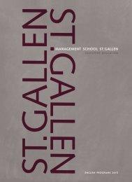 ST.GALLENMANAGEMENT SCHOOL ST.GALLEN