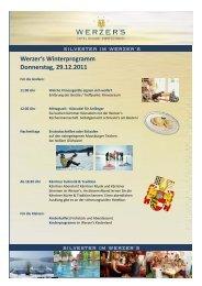 Werzer's Winterprogramm Donnerstag, 29.12.2011