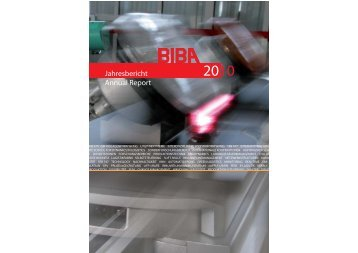Jahresbericht 2010 - Biba - Universität Bremen