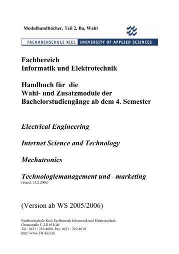 Fachbereich Informatik und Elektrotechnik Handbuch für die Wahl ...
