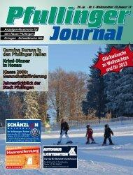 Ausgabe Weihnachten/Januar 2013 - beim Pfullinger Journal