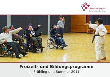 Freizeit- und Bildungsprogramm - LWV.Eingliederungshilfe GmbH