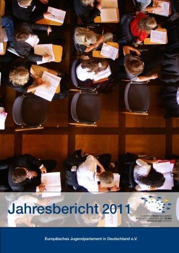Jahresbericht 2011 – PDF - Europäisches Jugendparlament in ...