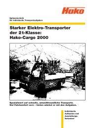 Hako-Cargo 2000 - Stangl Reinigungstechnik GmbH