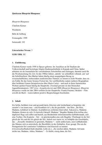 Charlotte kerner blueprint blaupause lezen voor de lijst quickscan blueprint blaupause blueprint lezen voor de lijst malvernweather Image collections