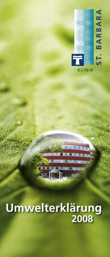 Umwelt - St. Barbara-Klinik Hamm-Heessen GmbH