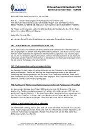 Zusammenfassung des ersten Treffen vom 28 - Ortsverband ...
