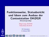 Funktionsweise, Statusbericht und Ideen zum Ausbau der ...