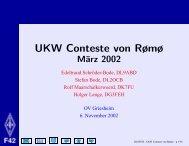 UKW Conteste von Rømø - Ortsverband Griesheim F42