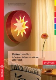 in der bunten Welt von Bethel proWerk