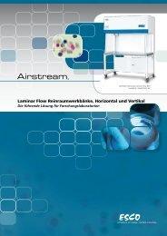 Laminar Flow Reinraumwerkbänke, Horizontal und Vertikal