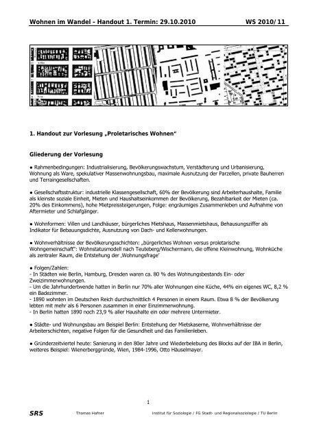 Wohnen Im Wandel Handout 1 Termin 29 10 Thomas Hafner