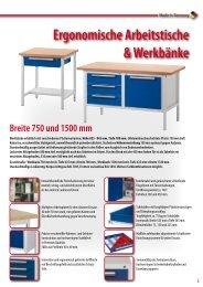 Arbeitstische & Werkbänke bis 1.500 mm