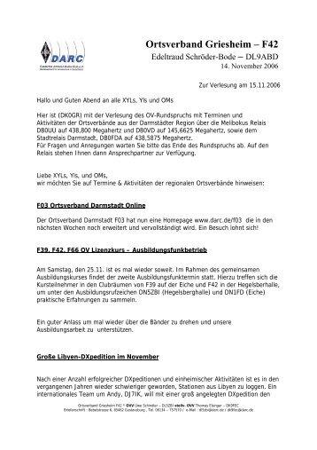 Ortsverband Griesheim – F42