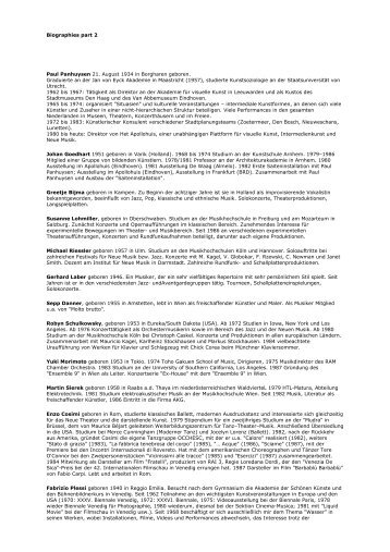 Biografien Teil 2 - ARS Electronica