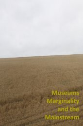 Museums Marginality and the Mainstream - Queen's University