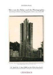 Mies van der Rohe und die Photographie - Villa Grisebach
