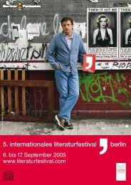 5. internationales literaturfestival berlin - Zentrum Moderner Orient