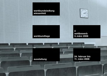 Ausstellung der Wettbewerbsergebnisse 24.02. bis 11.03.2006