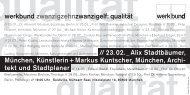 werkbund zwanzigzehnzwanzigelf: qualität - Muenchenarchitektur