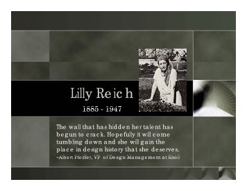 Lilly Reich - Conway Creations