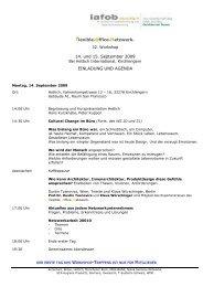 flexible.office.netzwerk. 14. und 15. September 2009 EINLADUNG ...