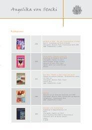 Publikationen - Angelika von Stocki