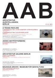 architektur ausstellungen berlin architektur galerie berlin aedes am ...