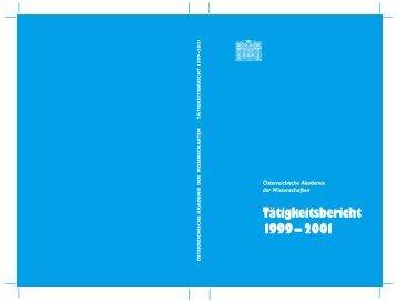 Tätigkeitsbericht - Österreichische Akademie der Wissenschaften