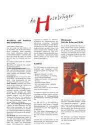 Ausgabe 3 Herbst / Winter 2004 - Über uns