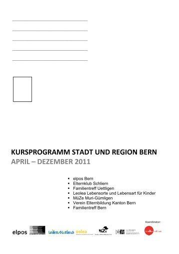 kursprogramm stadt und region bern april – dezember 2011 - Verein ...