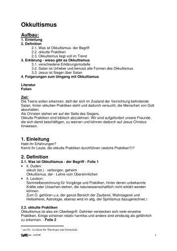 Themen - Okkultismus - Veitc.de