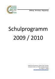 Schulprogramm 2009 / 2010 - Staatliches Gymnasium Marie Curie ...