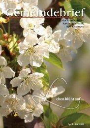 Gemeindebrief April/Mai 2012 - Evangelische Kirchengemeinde ...