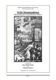 Menschliche Hybris in Ovids Metamorphosen - schule.at