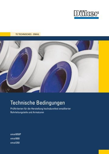 Technische Bedingungen - Düker GmbH & Co KGaA