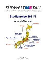 Abschlussbericht Studienreise 2011 - Südwestmetall