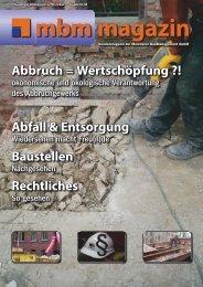 Baustellen - Meichsner BauManagement GmbH
