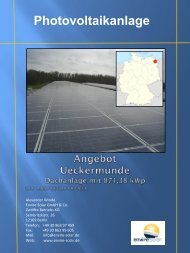 Exposee Uckermünde - Envire Solar AG
